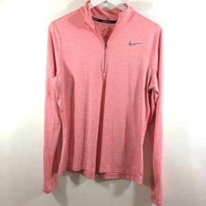 Nike Running Dri Fit Pink 1/2 Zip Pullover Jacket